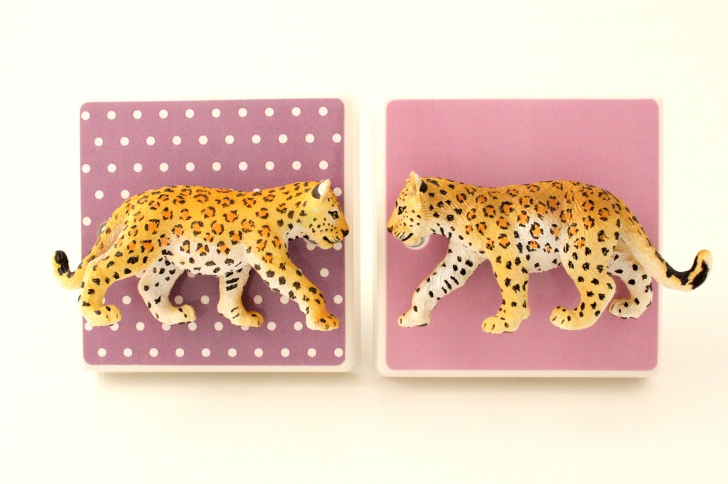 Lilac Leopard Light Switches for a nursery or childs bedroom by candy queen designs