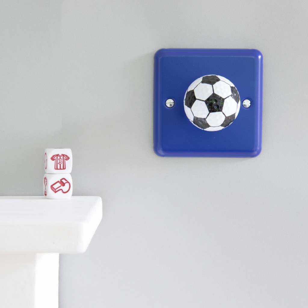 Football Bedroom Accessories Team Light Switches For 4 Way Switch Uk Boys Varilight Reflex Blue Metal