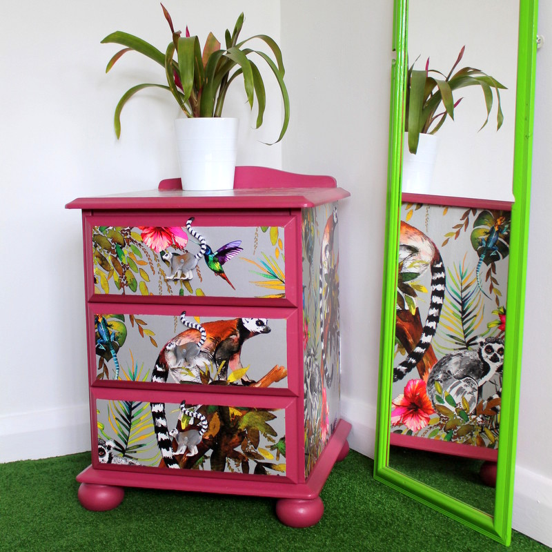 Learning How To Upcycle Furniture With Wallpaper And Fusion