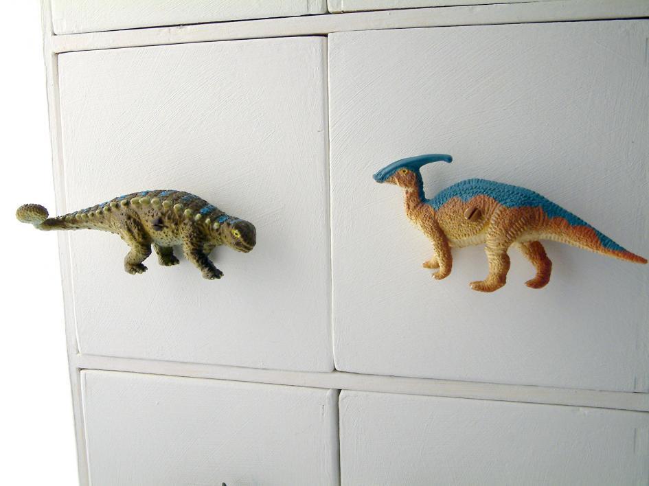 Childrens Dinosaur Cupboard Knob Parasaurolophus