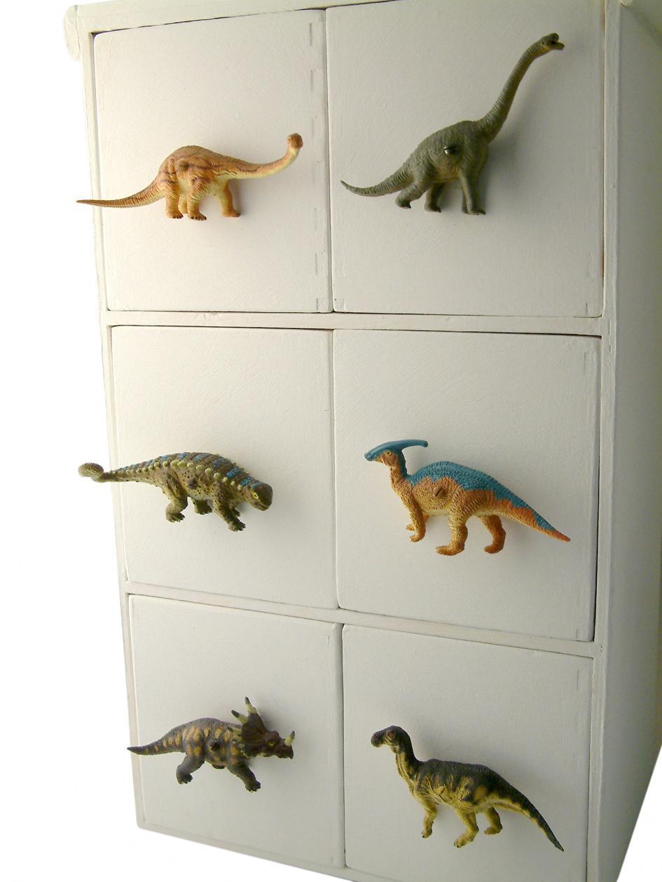 Childrens dinosaur cupboard or drawer knob raptor for Children s bureau knobs