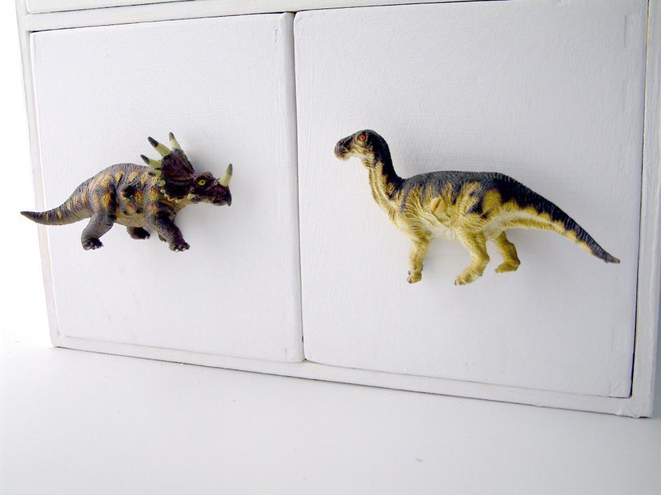 Dinosaur themed bedroom furniture knob - Edmontosaurus ...