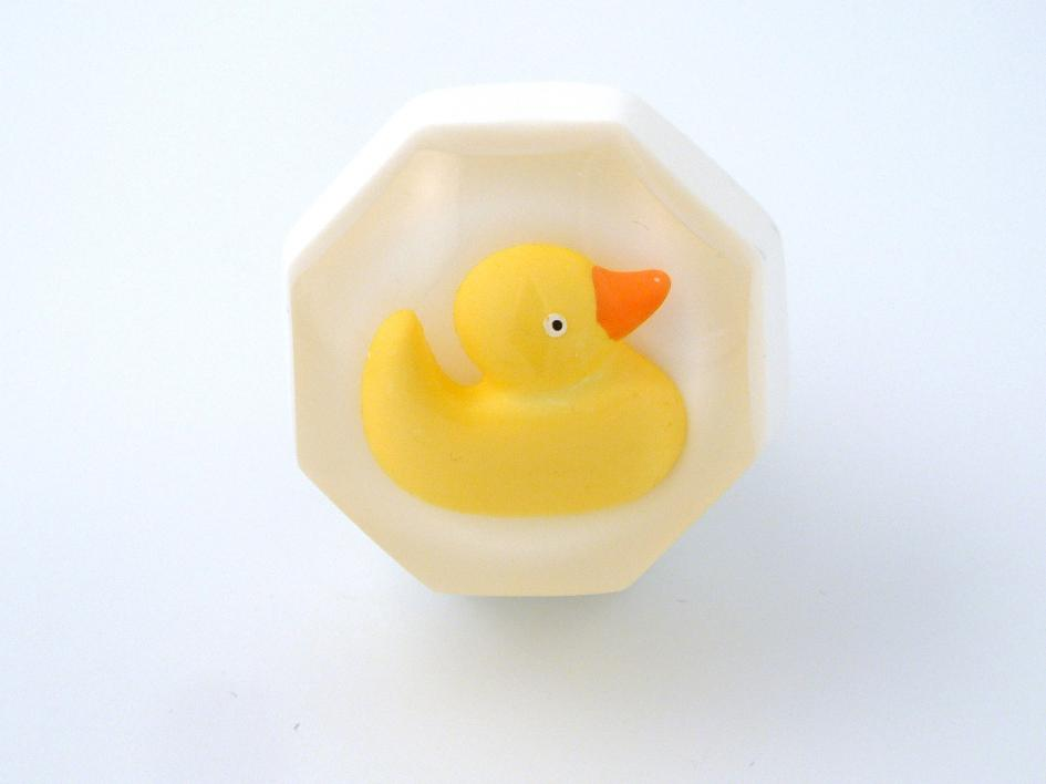 Yellow Duck Resin Cupboard Knob for the Bathroom or Nursery Cupboards of Drawers