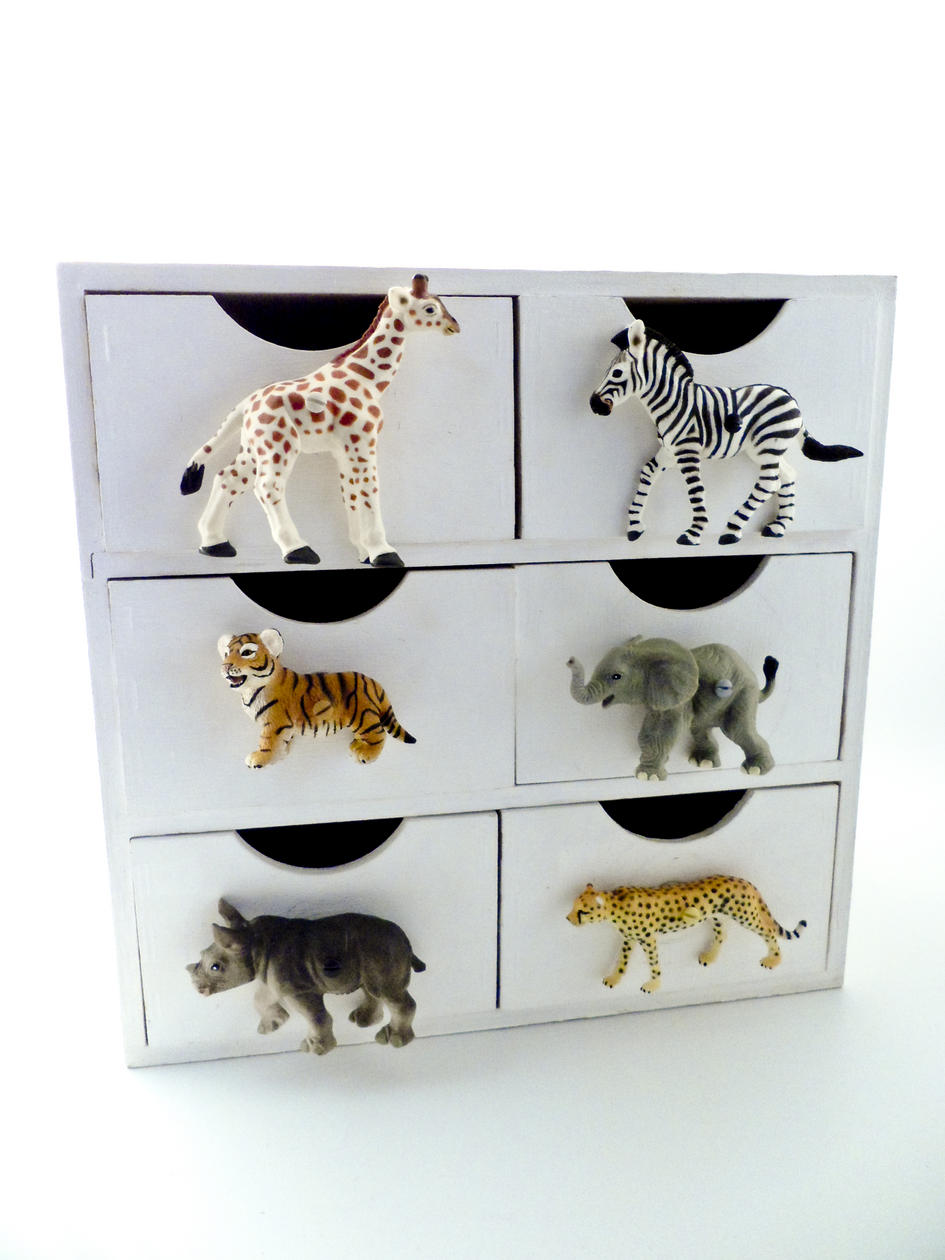 Childrens Room Safari Grey Rhino Drawer Knob
