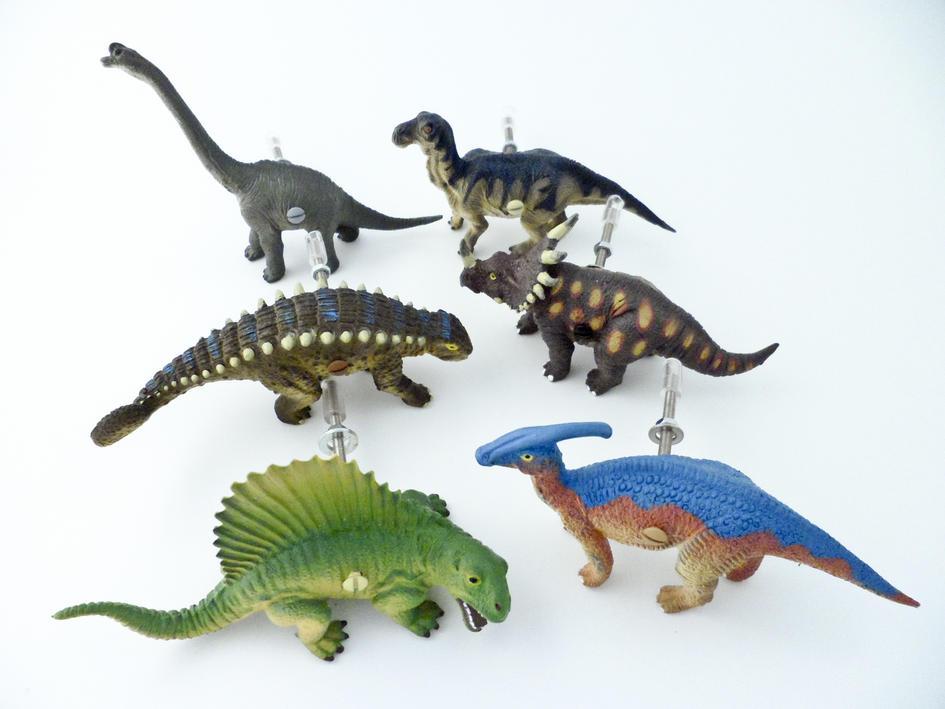 Six Dinosaur Themed Bedroom Cupboard Knobs - Dinosaur ...