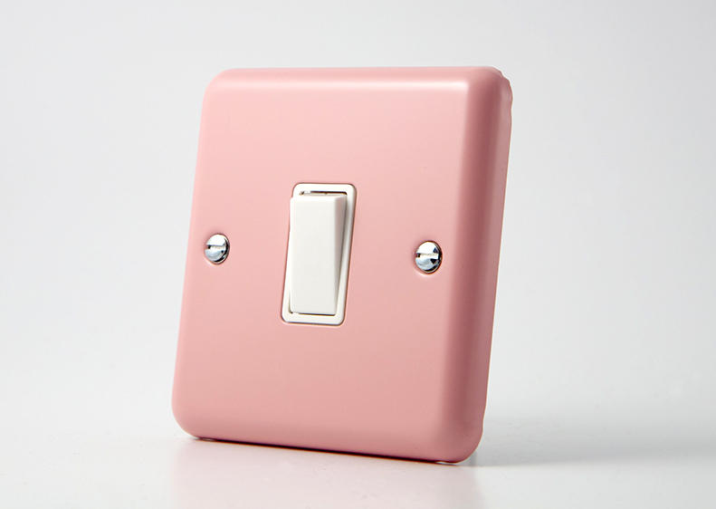 Retro Pastel Rose Pink Rocker Light Switch 1 Gang 10a 1 Or