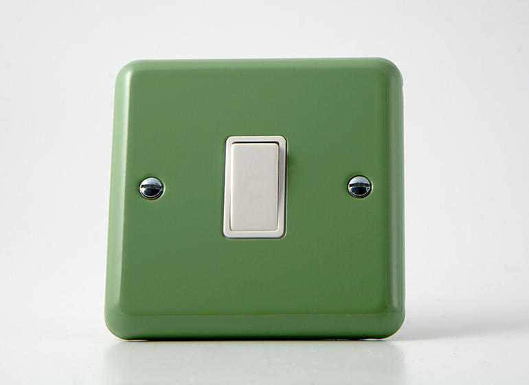 Retro Pastel Beryl Green Rocker Light Switch 1 Gang 10a 1