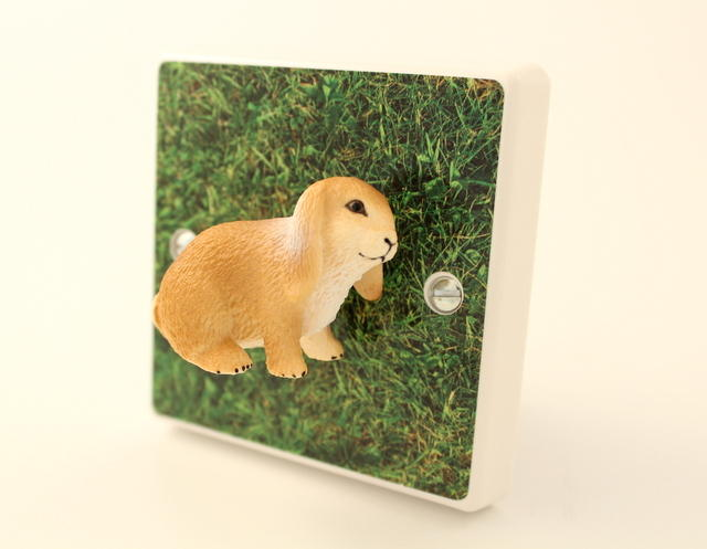 *SALE* - Lop Eared Bunny Rabbit On The Grass Decorative Light Switch