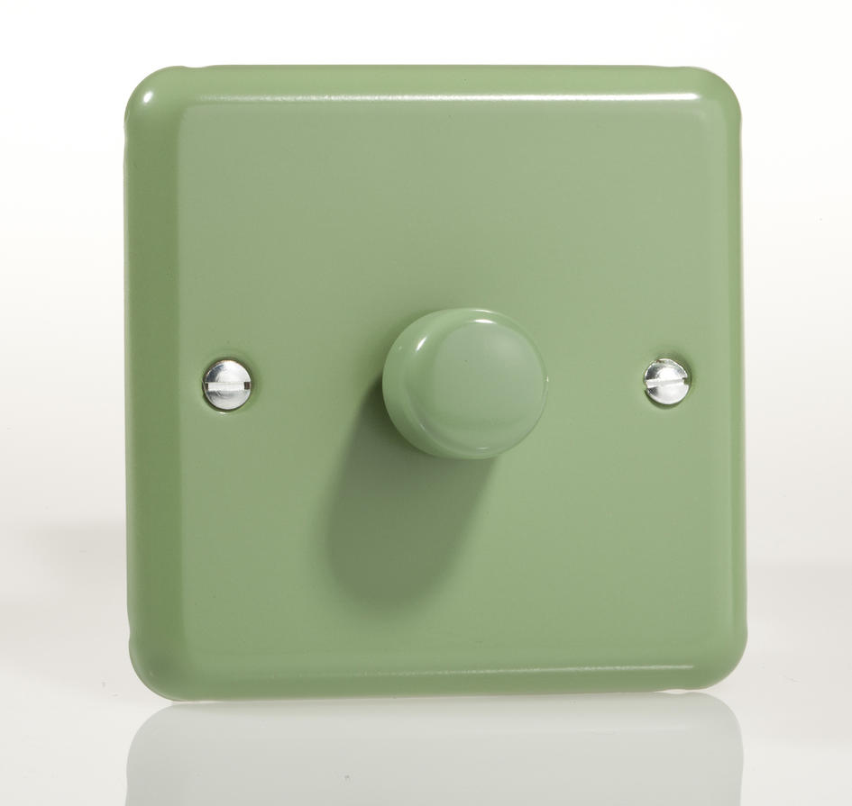 Retro Beryl Green Single Led Dimmer Switch Varilight 2