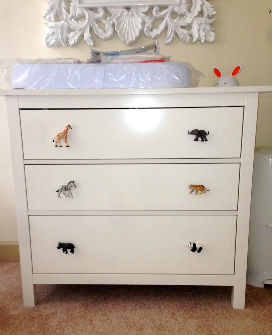 Childrens room safari grey rhino drawer knob for Children s bureau knobs