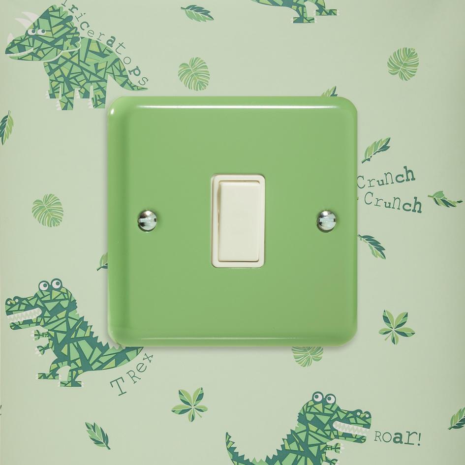 Sale 1 Only Designer Pillar Box Red Rocker Light Switch 3 Way Varilight Retro Pastel Beryl Green Xy1w