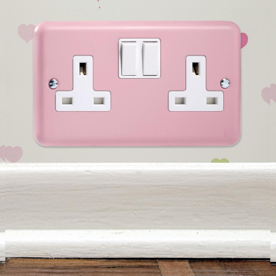 8 In Stock Retro Range Lily Rose Pink 13 Amp Switched