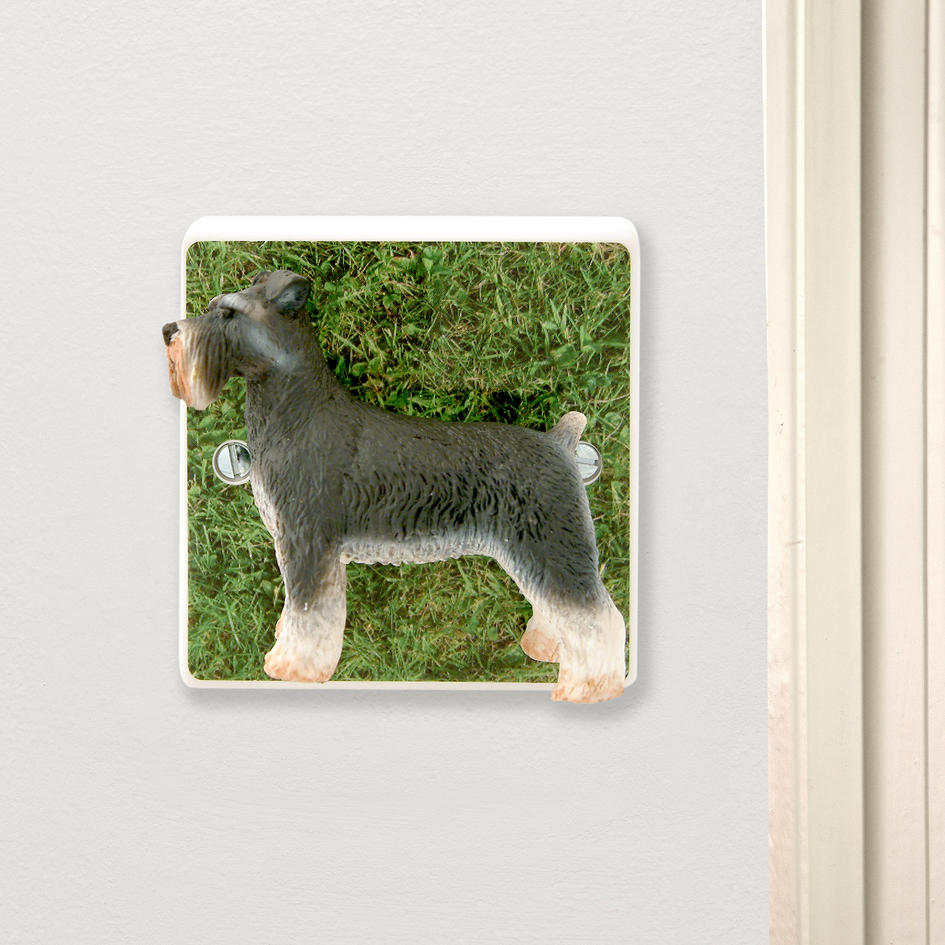 Decorative schnauzer dog light switch unique gift for dog for Unusual dog gifts