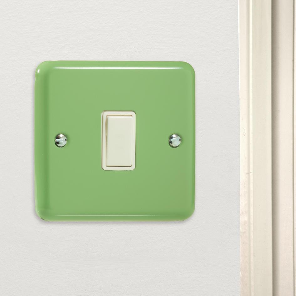 Varilight Retro Pastel Beryl Green Rocker Light Switch 1