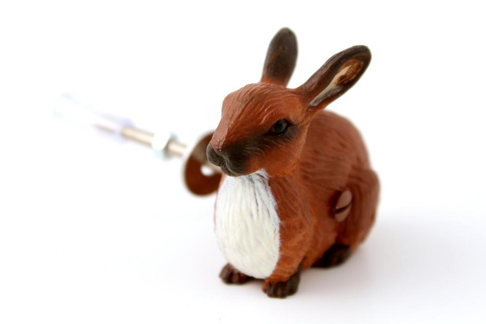 Brown Bunny Rabbit Cupboard Knob