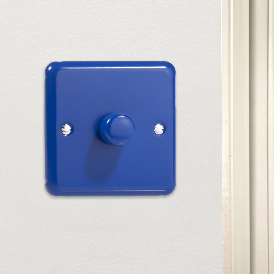 *SALE - 4 IN STOCK* Royal Reflex Blue Decorative Dimmer Switch Made in the UK HY3.RB Varilight V-Dim