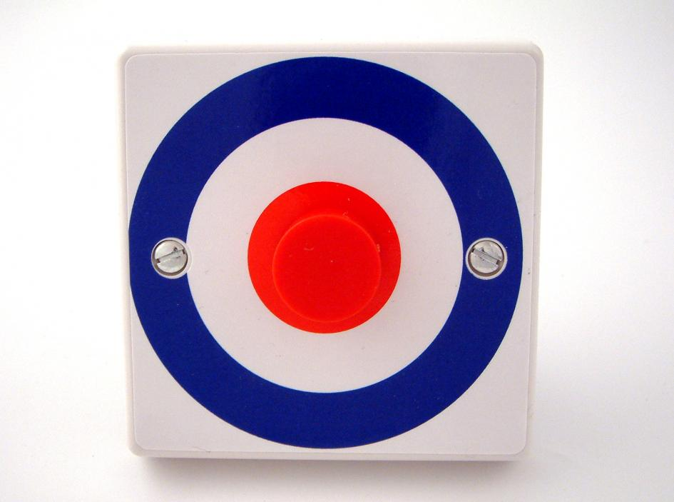 Roundel Target Light Switch or Dimmer Switch - British Made