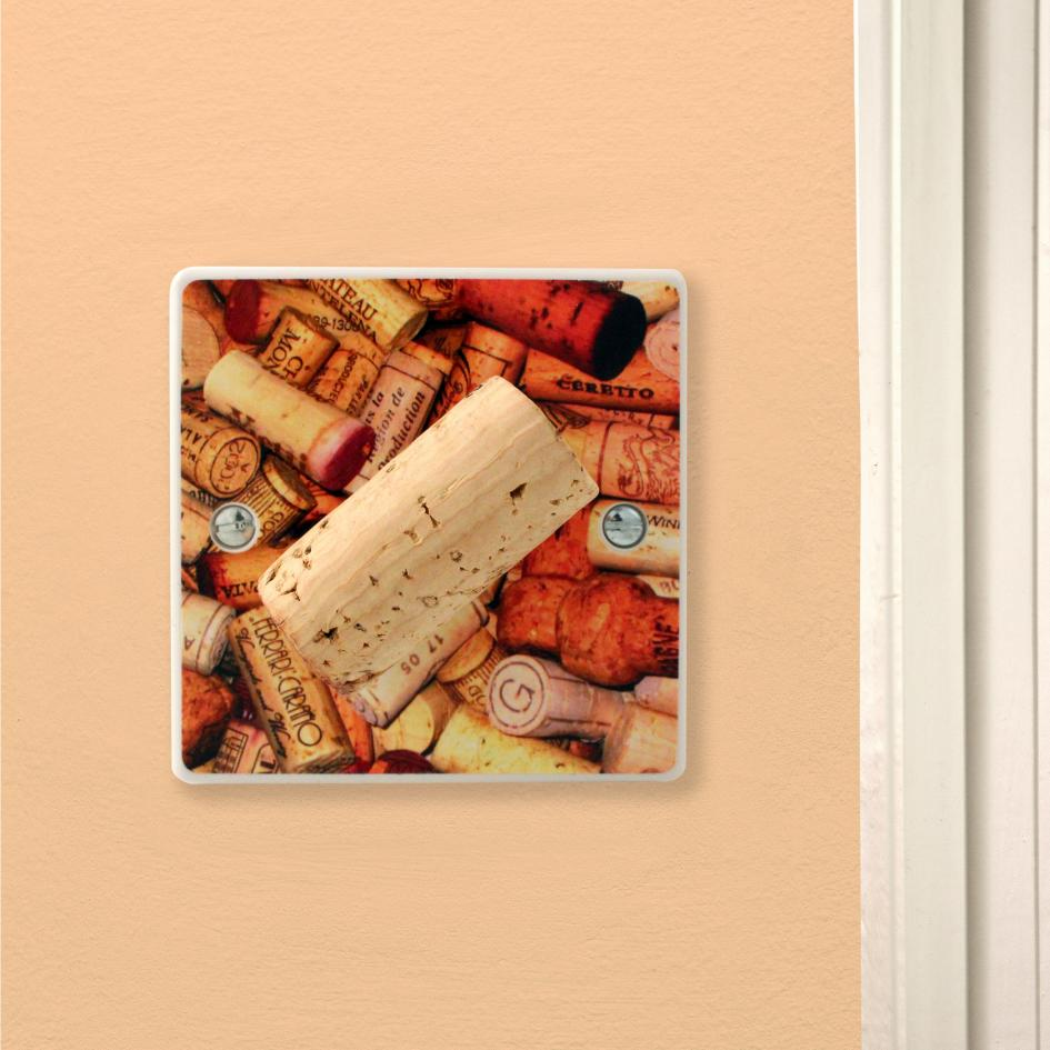 Wine Lover Cool Corks Gift Kitchen Light Switch Or Dimmer