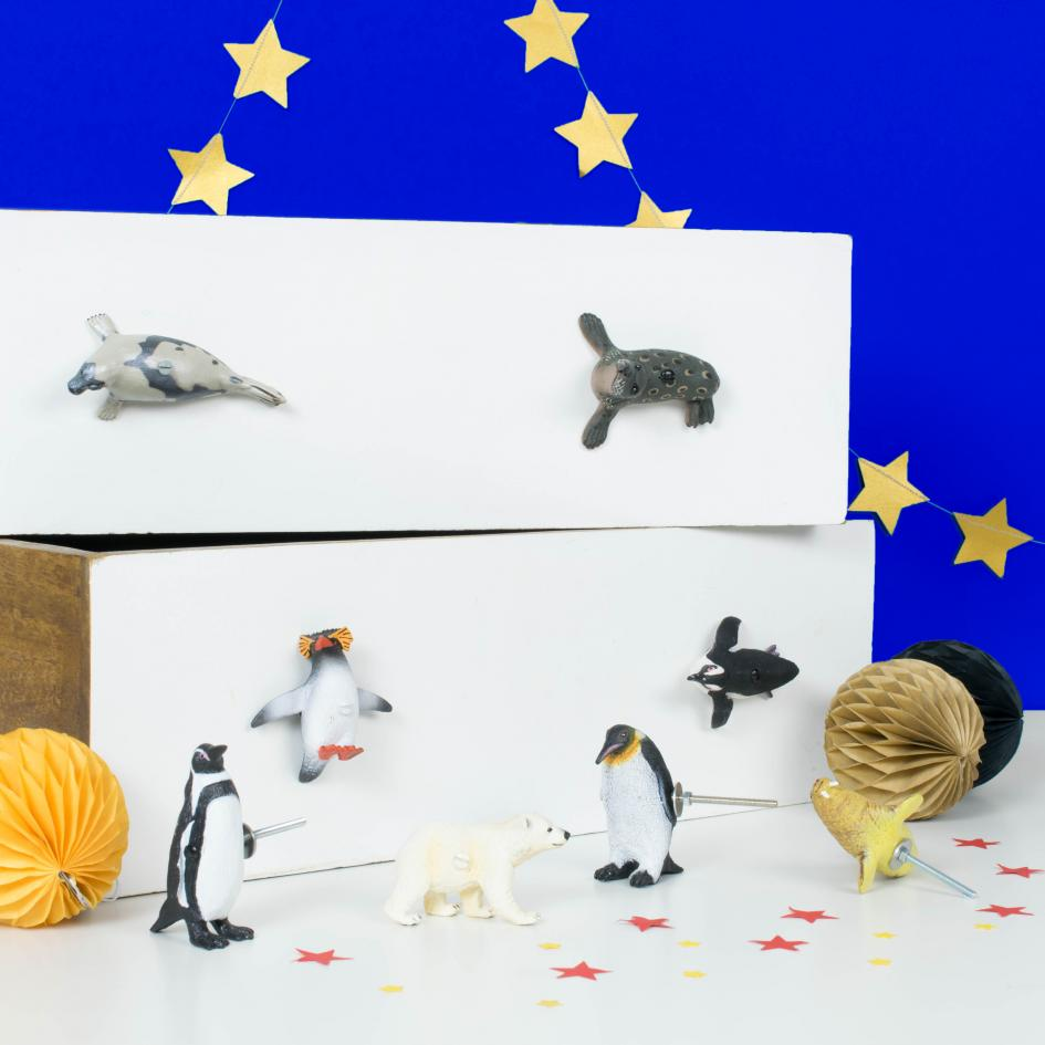 Penguins, Arctic & Sea Life Knobs