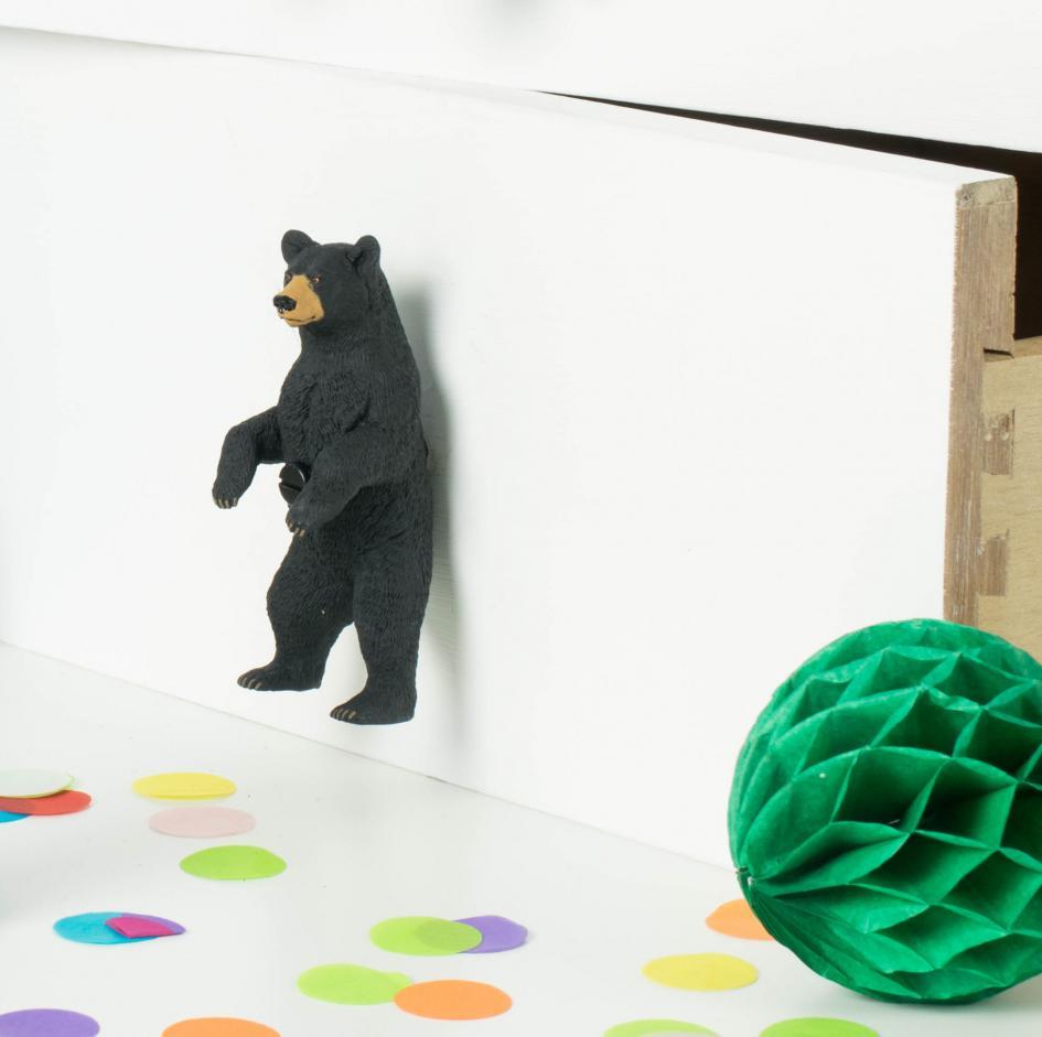 Big Bear Cabinet Knob Black Bear Standing On Two Legs