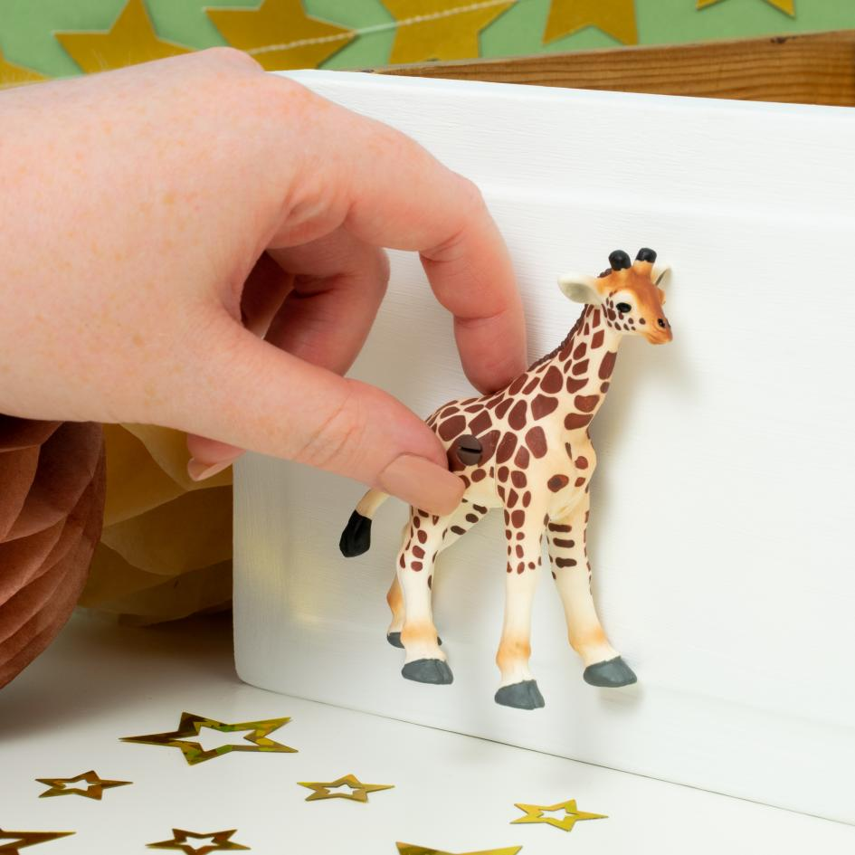 Baby Giraffe Furniture Knob for Safari Themed Bedroom or Nursery Cupboards or Drawers