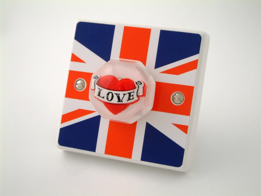 Great British LOVE Bedroom or Kitchen Light Switch