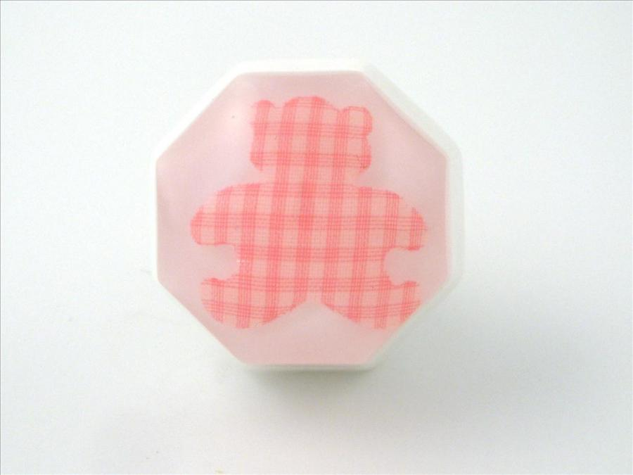 Pink Teddy Bear Nursery Cupboard or Drawer Knob