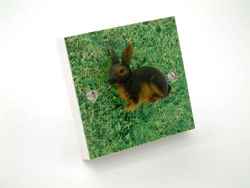 Black Bunny Rabbit Light Switch