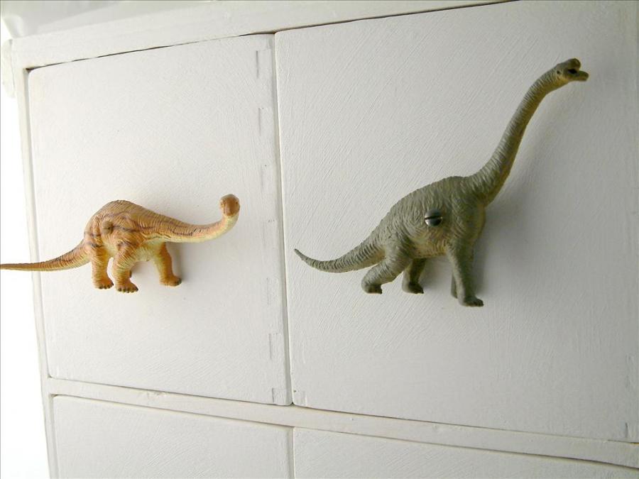 Safari Themed Bathroom Dinosaur Cupboard Knobs - Childrens Drawer Knobs