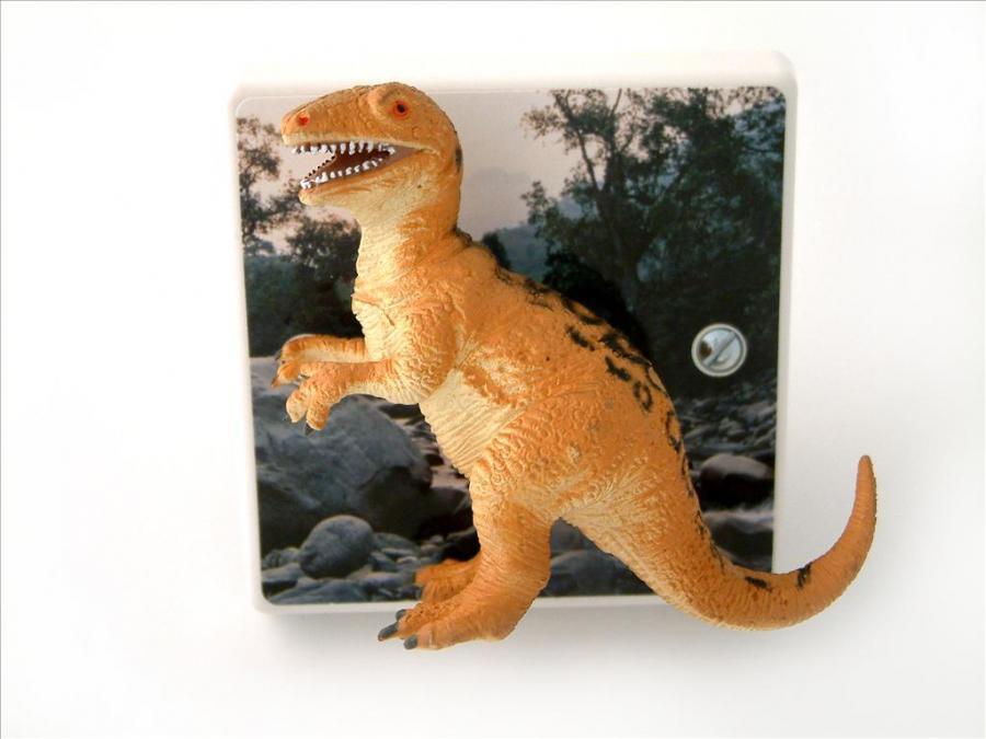 allosaurus light switch ideal for a dinosaur themed bedroom