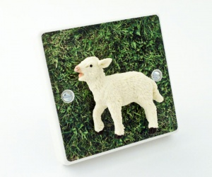 Cute Baby Lamb Farm Animal Light Switch or Dimmer Switch For kids Bedrooms