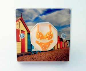 Designer Beach Huts and Bikini Light Switch British Made & Handmade