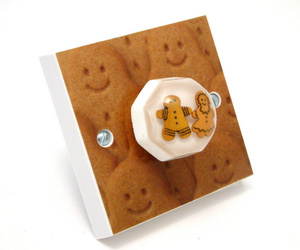 Ginger Bread Men Kitchen Light Switch British Made & Handmade by Candy Queen Designs