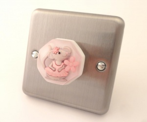 Decorative Bedroom Light Switch Matilda The Dancing Mouse British Made Brushed Chrome Light Switch