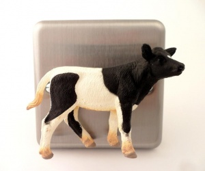Designer Brushed Chrome Cow Dimmer Switch