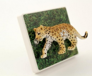 Childrens Jungle Themed Bedroom Leopard Light Switch