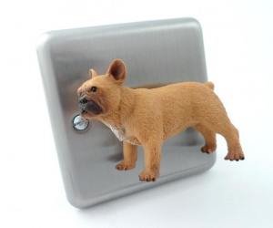 Frenchie the Bulldog Dog Designer Decorative Dimmer Switch
