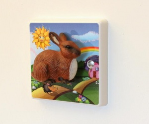 Bunny Rabbit Rainbow Light Switch by Candy Queen Designs
