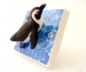 Decorative Penguin Dimmer Light Switch for Sea Life Themed Bedrooms