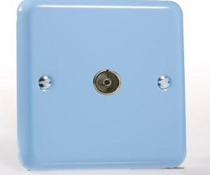 Pastel TV Ariel Socket