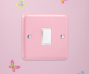Retro Pastel Rose Pink Rocker Light Switch 1 Gang 10A 1 or 2 Way Made By Varilight CQ XY1W.RP