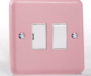 Pastel Pink Kitchen Fused Spur 13A Switched Retro 1950´s Rose Pink XY6W.RP