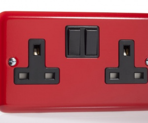 Retro Style Plug Sockets - Red & Blue