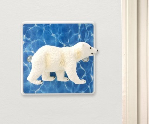 Polar Bear Cub Light Switch Perfect For an Arctic Themed Bedroom