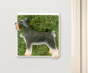 Decorative Schnauzer Dog Light Switch Unique Gift for Dog Lovers