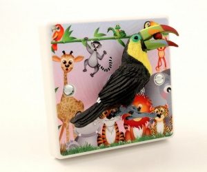 Decorative Toucan Light Switch For Childrens Jungle Themed Bedrooms