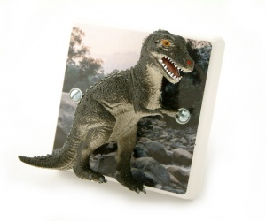 T Rex Dinosaur Designer Decorative Bedroom Dimmer Light Switch by Candy Queen Designs
