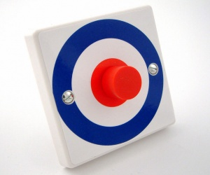 Roundel Light Switch or Dimmer Switch - British Made