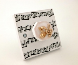 Decorative Light Switch or Dimmer Switch for the Music Room British Made & Handmade