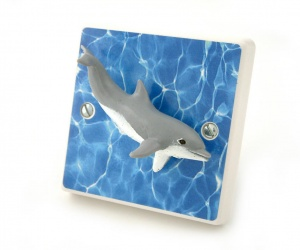 Decorative Dolphin Light Switch for Boys or Girls Themed Bedrooms